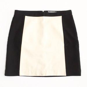 LOFT | Black with Tan Inset Panel Skirt